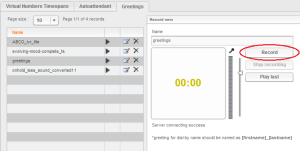 Auto Attendent,Greetings,TimeSpans Hosted PBX