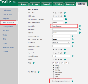 Yealink Auto Provisioning with Calncall User guide
